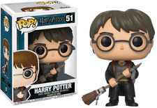 Funko Pop! Harry Potter with Firebolt - Exclusive - Limited -raro-DEFECTO CAJA