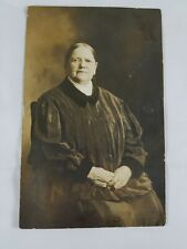 "Vintage Real Photo Post Card Stately ""Aunt Elizabeth"" Nicely Dressed Seated 1910"