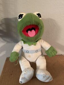 1984 Muppet Babies Baby Kermit Frog Plush Hasbro Jim Henson Pampers Vintage