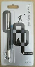 Parker Refillable Fountain Pen Medium Stainless Steel Nib & 1 Blue Ink Cartridge