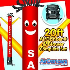 Red & Yellow Sales & Rentals Air Dancer ® & Blower 20ft Tube Man Sky Dancer Set