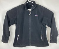 VTG 90's Patagonia Regulator Fleece Jacket Women's SZ L Black Made In USA