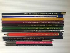 12 RARE VINTAGE COPYING PENCILS: A.W./EBERHARD/JOHANN FABER, STAEDTLER, SWAN,etc
