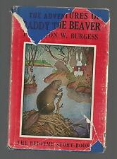 Burgess ADVENTURES OF PADDY THE BEAVER   w/d     EX   1943