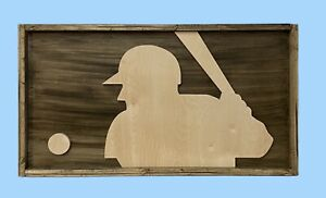 "Major League Baseball MLB Logo Framed Wooden Cutout 32"" x 17.5"""