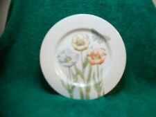 Vintage 1976 Fitz & Floyd Pastel Poppy Salad Plate With Butterfly