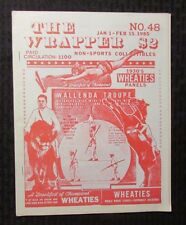 1985 THE WRAPPER Non-Sports Collectibles Fanzine #48 VG+ 4.5 Wheaties