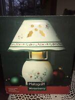 """Pfaltzgraff Winterberry Votive Candle Lamp EUC 10"""""""
