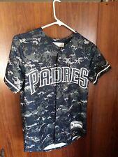 MLB San Diego PADRES Baseball MAJESTIC Future Padres Clorox Camo Jersey Youth M