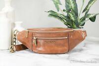 Michael Kors Mott Medium Leather Luggage Waistpack Belt Bag Fanny Pack