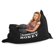 STAR BUY Indoor/Outdoor 'Jack Daniels' XXL Giant Bean Bag W/ Plain Black Reverse