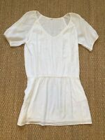 J. Crew Cotton Tunic Dress White Size L Large