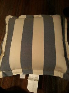 Threshold Black Stripe Deep Seat Back Outdoor Pillow 24x24in