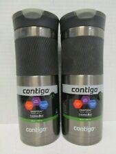 2 CONTIGO SNAPSEAL TRAVEL MUG W/ THERMALOCK VACUUM INSULATION 20 OZ - NT 4716