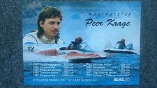 AK o.Orig.AG Peer Krage GER Motorsport 1.WM 90 - Motorboot 700ccm Rarität!