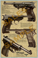 Walther P-38 - 1940 production Illustration Poster 11 x 17