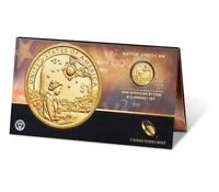 ✯ 2019 P Enhanced Native American  $1 Coin & Currency Set In Stock