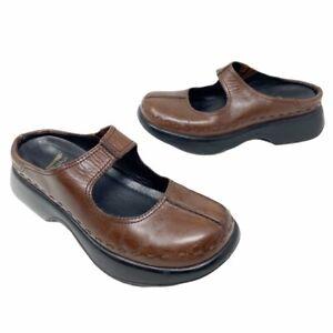 Dansko Womens Midori Classic Mary Jane Mule Shoes Brown Leather 7.5-8 EUR 38