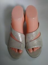 Tahari Wedge Sandals. New Size 9.5 Color Beige
