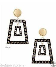 Belle Noel Kim Kardashian gold plat trapezoid earrings