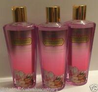 3 VICTORIA'S Secret STRAWBERRIES & CHAMPAGNE Body Wash Shower gel 8.4 oz NEW