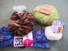 4 balls Adriafil yarn,ice cream,olimpo,monello lux,genio,apprx 170gm,wool/mohair
