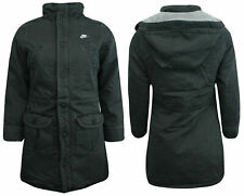 Nike Active Girls Juniors Hooded Winter Coat Zip Jacket Charcoal 235949 010 X30A