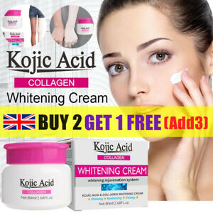 80ml Kojic Acid Skin Whitening Cream Triple Action Brightening Acid Dark Spots-