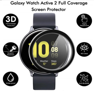 For Samsung Galaxy Watch Active2 40mm 44mm Full Cover Screen Protector Curved 3D