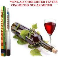 VINOMETER SUGAR METER SACCHAROMETER ALCOHOL HYDROMETER WINE ALCOHOLMETER TESTER!