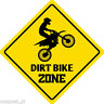 "*Aluminum* Dirt Bike Zone Funny Metal Novelty Sign 12""x12"""