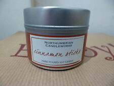Northumbrian Cinnamon Sticks Scented Candle in a Tin 15 Hours Burn Time Soy Wax