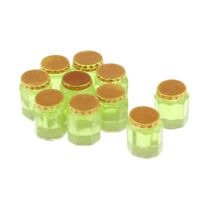 10pcs Honey Jar with Lid, 1:12 Scale Dollhouse Miniature Food Model