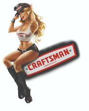 Craftsman Tool Sticker Harley Girl Pinup Sexy Vintage Decal Mechanic Toolbox Usa