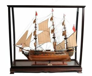 """HMS Surprise Tall Ship Model 37"""" Master & Commander w/ Table Top Display Case"""