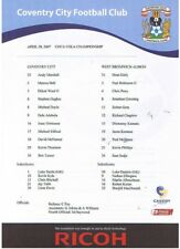 Teamsheet - Coventry City v West Bromich Albion 28.04.07
