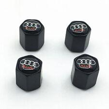 Black Style Car Tire Tyre Valve Stems Dust Cap Cover FOR Audi Parts Decoration