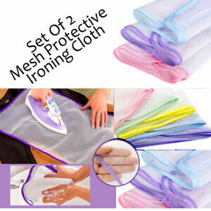 PACK OF 2, 60 X 40 CM IRON PROTECTIVE PRESS MESH IRONING CLOTH GUARD PROTECTOR