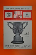 League Cup 4th Rnd Replay - Manchester United v Burnley - 20th October 1969
