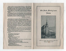 1943 OLD SOUTH MEETING HOUSE Boston Massachusetts PAMPHLET History CHURCH Mass