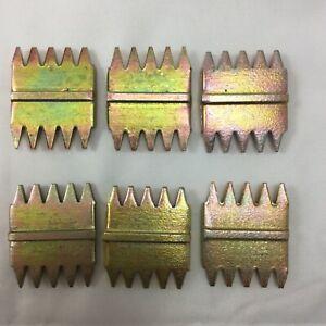"""6 X SCUTCH COMBS 1"""" 25 mm 5 X tpi high quality fits 25mm  chisel   gs3 tool uk"""