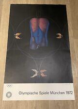 Original Vintage Poster Olympic Art Munich 1972 Artist: Paul Wunderlich