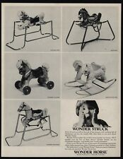 1967 WONDER HORSE - Pony - Mustang - Coaster - Shoo-Fly - Coaster - VINTAGE AD