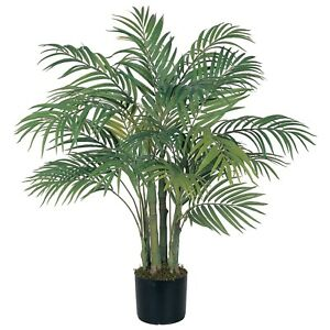 3 Ft NEW SILK ARTIFICIAL ARECA PALM TREE W/ 7 TRUNKS & 536 LEAVES