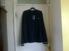FRED PERRY MENS CREW NECK SWEATER