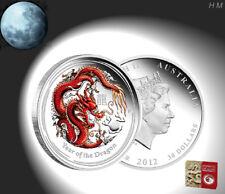 Lunar II DRACHE DRAGON 0,5 / 1/2 oz Silber-Muenze PP PROOF COLOR farbig
