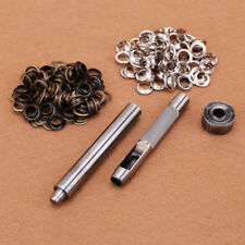 Eyelet 8mm Hole Punch Tool Kit High quality  Leather Craft with 100 eyelets
