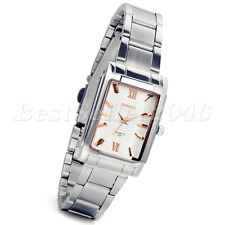 Women's Square Stainless Steel Watches Luxury Sport Analog Quartz Wrist Watch