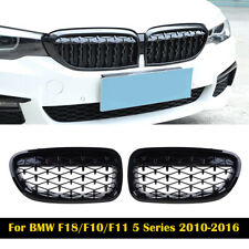 For BMW F10 F11 F18 528i 535i 2010-2016 Black Front Diamond Kidney Grill Grille