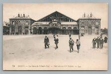 Brest—Gare de l'Ouest—Antique Train Depot Railroad Station French CPA 1910s